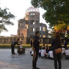 原爆ドームです