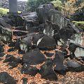 写真:甲府城 石切り場跡