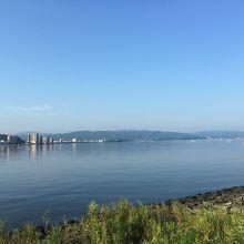 近めからの宍道湖