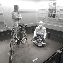 自転車にエンジンを取り付けて研究