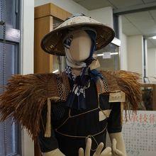 地元の昔ながらの生活様式を伝える道具類を展示