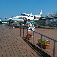 展示してある飛行機です。