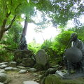 写真:立石寺 芭蕉と曽良の像