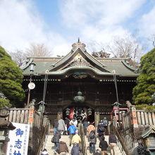 江戸時代に造られた総檜造りの建築物