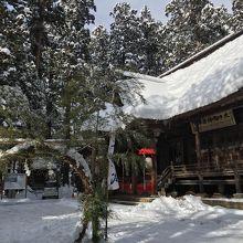 【南陽】雪の熊野大社