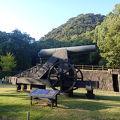 仙巌園(磯庭園) 鉄製アームストロング砲