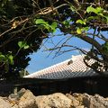 写真:竹富島の町並み