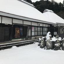 雪で誰もいない