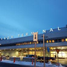 こじんまりとした空港です