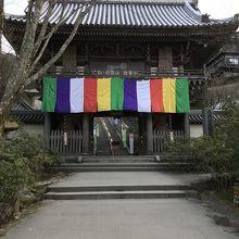弥山登山道麓にある寺院