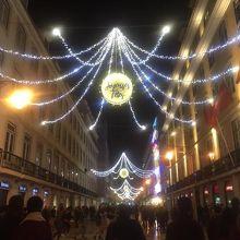 リスボン中心部のメインストリートの一つ