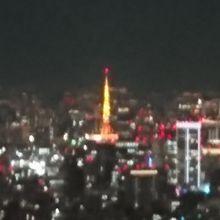 東京タワーが見えました。