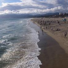 サンタモニカの砂浜