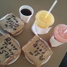 高橋果実店のサンドイッチ