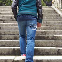 たくさんの階段をのぼります