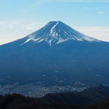 三ツ峠山から見た富士山
