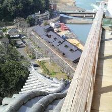 木曽川の絶景もすごいですが柵の低さも注目