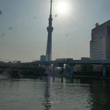 隅田川に映る東京スカイツリー