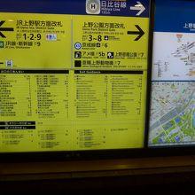 日比谷線の上野駅からは7番出口を出ます