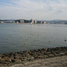 散歩で見た宍道湖