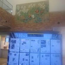 宿泊したホテル内に、軍艦島情報が展示されていました。
