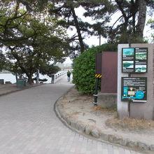 中島への道です。