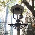 写真:ダデル ストリートのガス燈