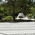 銀閣寺 向月台と銀沙灘