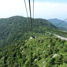 雲仙温泉街と平成新山を眺めることができます