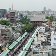 観光センターから見た浅草寺