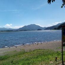 のどかな湖岸