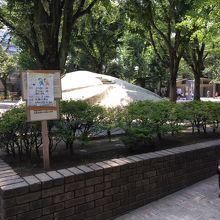 赤城神社近くの公園
