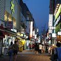 写真:大邱東城路通り