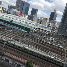 新幹線が見られる