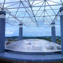 野島山展望台は高さ約5mの円柱台からは360度が!