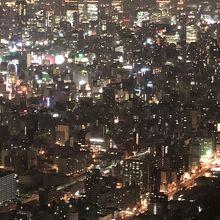 大阪北のビル群方面