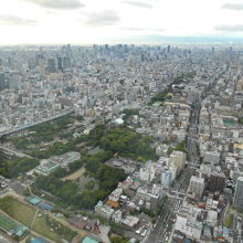 阿倍野ハルカス60階からの眺望