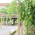 写真:上山城の足湯