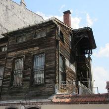 アジア側にあるトルコ式木造家屋