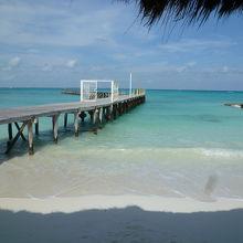 席からみえるカリブ海