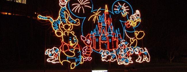 ディズニーがたくさん光っていた夜のナイ...