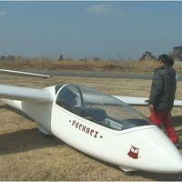 茨城県・大利根飛行場でグライダー遊覧飛行