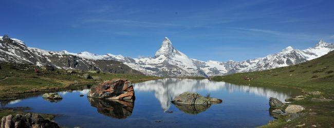 スイス花とハイキングの旅・逆さマッター...