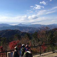 口コミを見て急遽高尾山に紅葉と富士を見に行った(富士は雲隠れ)