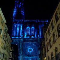 初フランス アルザス ストラスブール初日 大聖堂イルミネーションショー
