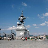 夏の終わりは花火と自衛艦を見に広島へ(その2、海上自衛隊呉地方隊で護衛艦「いせ」を見学)