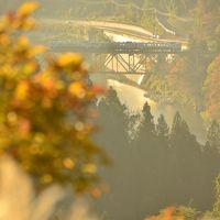 紅葉に包まれた只見線沿線を散策しに訪れてみた(その1)、そして第一只見川橋梁ライトアップ編