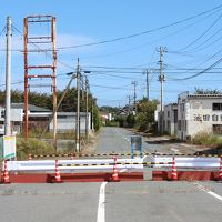福島第一原発近くの全開した国道6号線を通ってアクアマリン福島へ