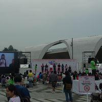 孫達と駒沢オリンピック公園を歩く(スポーツ博覧会2015の開始)