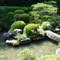 西国三十三所二十一番札所 穴太寺庭園の見学。